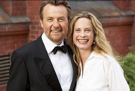 Maria Bonnevie and Fredrik Skavlan
