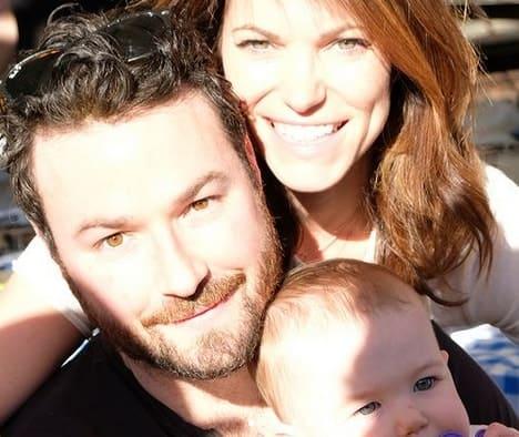 Courtney, Ross Kohn and their son